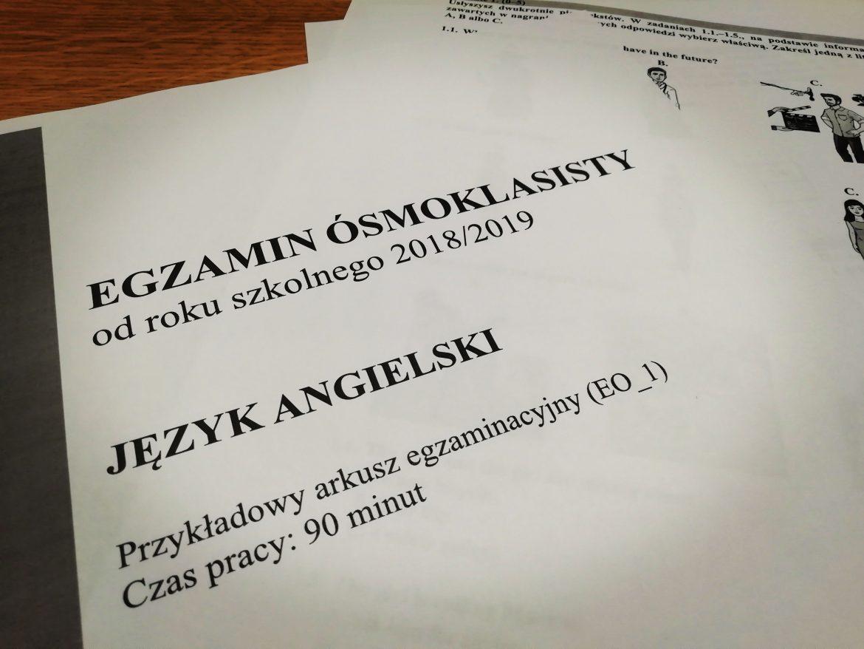 egzamin ósmoklasisty z języka angielskiego
